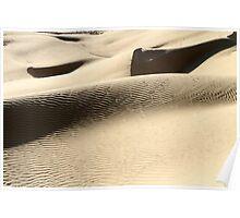 wind shaped Desert sand dune Poster