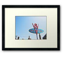Flo's Cafe In DCA  Framed Print
