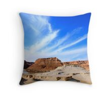 Eroded cliffs Israel, Dead Sea Throw Pillow