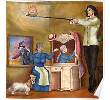 Calcifer Sparks - Howl's Moving Castle Poster