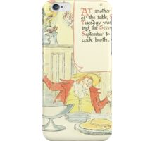 A Masque of Days - From the Last Essays of Elia 1901 illustrated by Walter Crane 24 - Shrove Tuesday iPhone Case/Skin