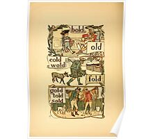 The Golden Primer by John Miller Dow, Illustrated by Walter Crane 1884 28 - Bold Old Cold Wold Fold Gold Told Sold Poster