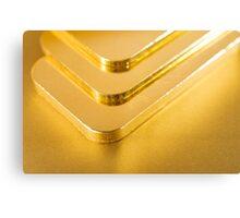 gold ingots Canvas Print