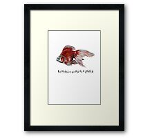 As Lacking In Privacy As A Goldfish Framed Print