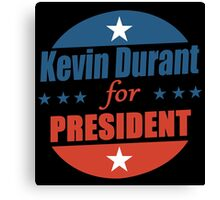 Kevin Durant for PRESIDENT Canvas Print
