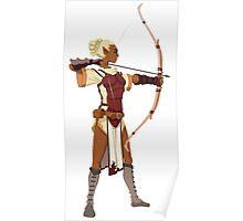 Female RPG Archer Poster