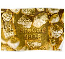 fine gold  Poster