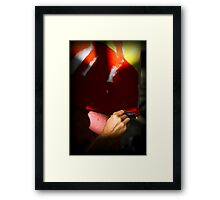Boca Brush Framed Print