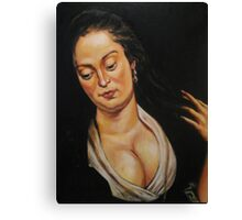 woman with mirror, after Rubens Canvas Print