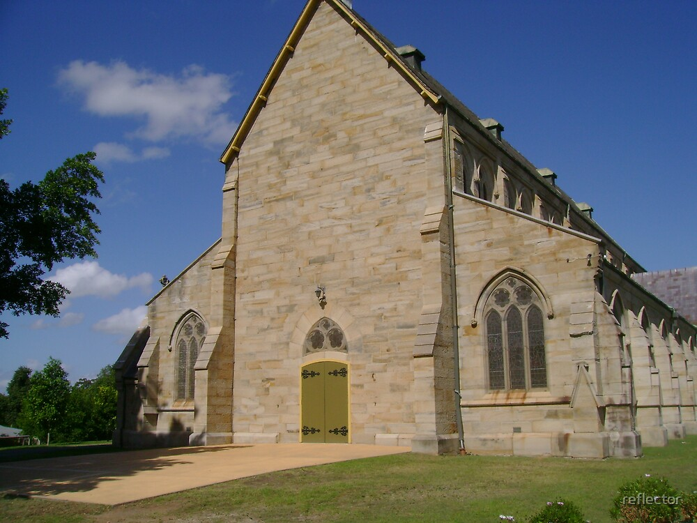 Sandstone Church by reflector