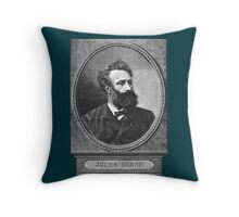 Jules Verne Throw Pillow