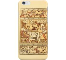 The Golden Primer by John Miller Dow, Illustrated by Walter Crane 1884 24 - Wing Bring King Sing String iPhone Case/Skin