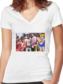 Dipset x Sailor Moon Women's Fitted V-Neck T-Shirt
