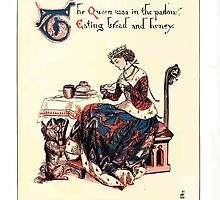 The Song Of Sixpence Pocket Book 1909 Walter Crane 23 - The Queen was in the Parlor Eating Bread and Honey by wetdryvac