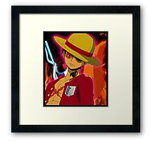 Anime Mashup Framed Print