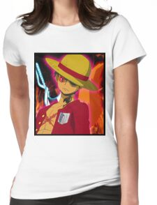 Anime Mashup Womens Fitted T-Shirt