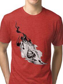 Flaming spades Tri-blend T-Shirt