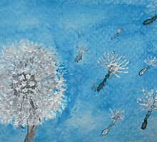 Dandelion Seed Head: Floating away... by LastLittleBird