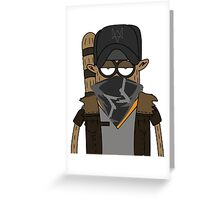 Watch_dogs/regular show rigby Greeting Card