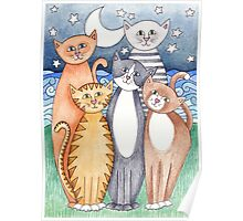 Happy Cats and Kittens Poster