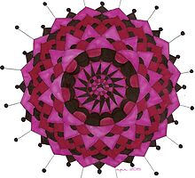 Pink & Red Mandala  by celestialtea