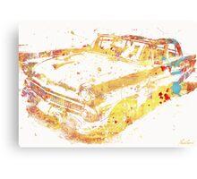Cadillac Colorful Canvas Print