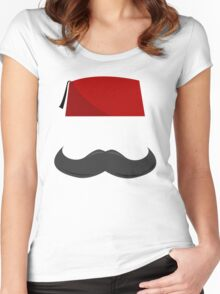 Man with a Fez Women's Fitted Scoop T-Shirt
