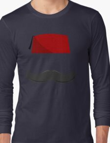 Man with a Fez Long Sleeve T-Shirt