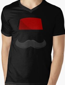 Man with a Fez Mens V-Neck T-Shirt