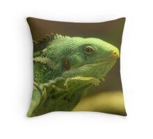 Fijian Iguana Throw Pillow