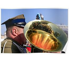 military Brass band.  Poster