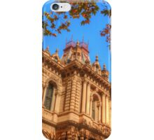 Town Hall framed by autumn leaves iPhone Case/Skin