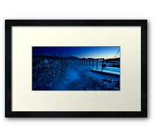 Blue Pier Framed Print