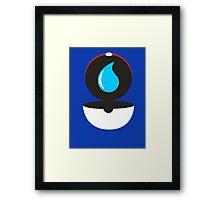 Pokeball - Water Framed Print