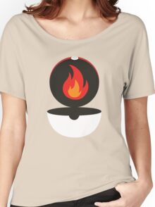 Pokeball - Fire Women's Relaxed Fit T-Shirt