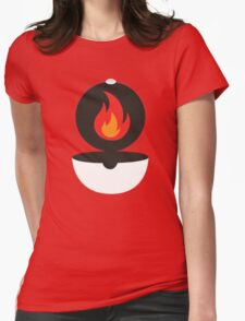 Pokeball - Fire Womens Fitted T-Shirt