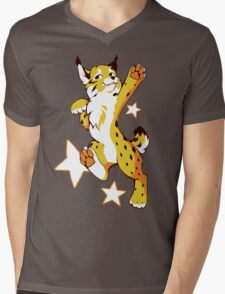 Party Lynx V2 Mens V-Neck T-Shirt