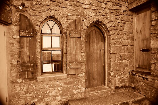 Carn Brea Castle Door:  by DonDavisUK