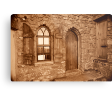 Carn Brea Castle Door:  Metal Print