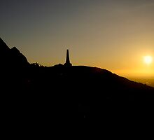 Carn Brea Sunset by DonDavisUK