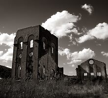 Blast Furnace ruins Lithgow NSW by ozzzywoman
