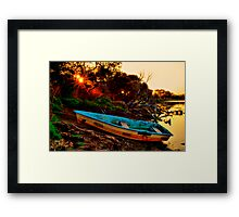 """""""Evening By The Creek"""" Framed Print"""
