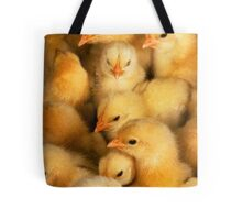 Clutch of Yellow Fluffy Chicks Tote Bag