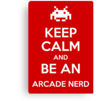 be an arcade nerd Canvas Print