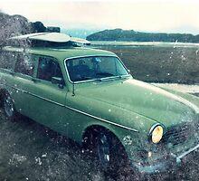 Classic- Volvo- Amazon- Beach by triumphtots