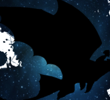 How to train your dragon - Toothless and Hiccup night Sticker