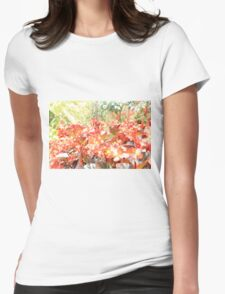 Flower red Womens Fitted T-Shirt