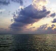 Colors of shadow and water at sunset off the Lakshadweep Islands by ashishagarwal74