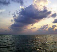 Colors of shadow and water at sunset off the Lakshadweep Islands by ashishagarwal74