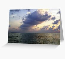 Colors of shadow and water at sunset off the Lakshadweep Islands Greeting Card